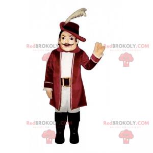 Maskottchen mit historischem Charakter - Conquistador -