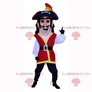 Historisch karaktermascotte - Piraat - Redbrokoly.com