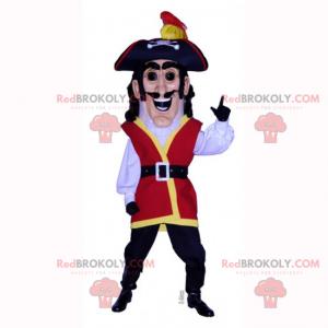 Historisk karakter maskot - Pirat - Redbrokoly.com