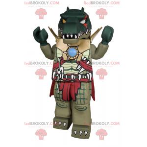 Lego Charakter Maskottchen - Krokodil in Rüstung -
