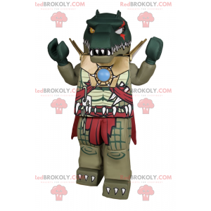 Maskot postavy Lego - Krokodýl v brnění - Redbrokoly.com