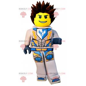 Maskot postavy LEGO v brnění - Redbrokoly.com