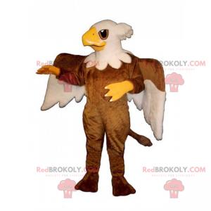 Kleines Adler-Maskottchen mit zweifarbigen Flügeln -