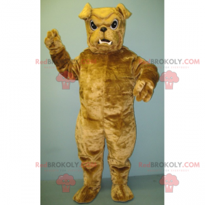 Kleines beige Bulldoggenmaskottchen - Redbrokoly.com