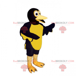 Dvoubarevný maskot kachny - Redbrokoly.com