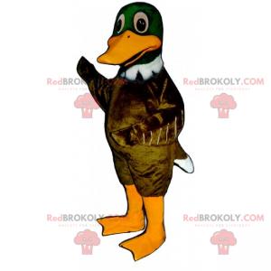 Maskot zelená kachna - Redbrokoly.com