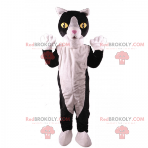 Maskott svart og hvit katt - Redbrokoly.com