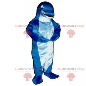 Kleine blauwe dolfijn mascotte - Redbrokoly.com