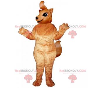 Kleines Eichhörnchenmaskottchen mit langem Schwanz -