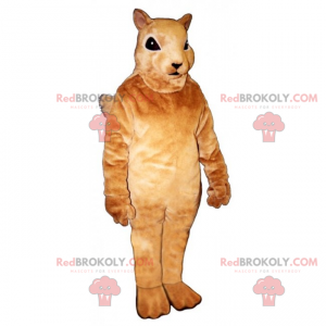 Kleine beige eekhoorn mascotte - Redbrokoly.com