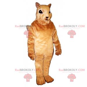 Kleines beiges Eichhörnchenmaskottchen - Redbrokoly.com