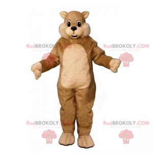 Pequeno mascote de esquilo bege - Redbrokoly.com