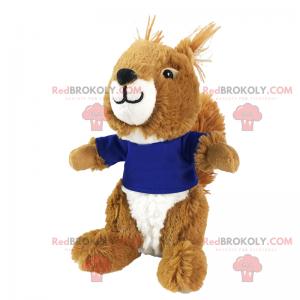 Lille egern maskot i en t-shirt - Redbrokoly.com