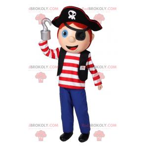 Pirát chlapec maskot - Redbrokoly.com