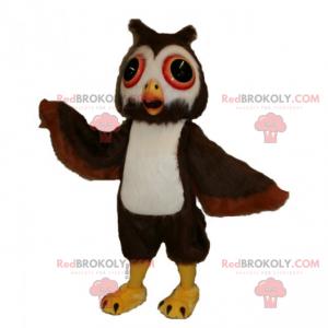 Malá sova maskot s velkýma očima - Redbrokoly.com