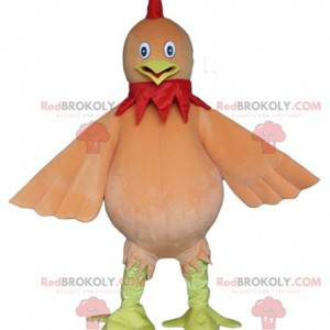 Obří holub žlutý a červenohnědý pták maskot - Redbrokoly.com