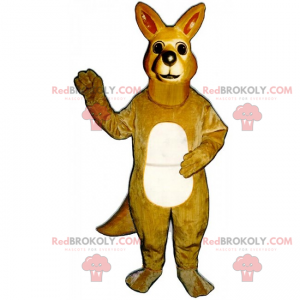Little kangaroo mascot - Redbrokoly.com
