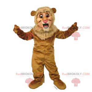 Little lion mascot with small mane - Redbrokoly.com