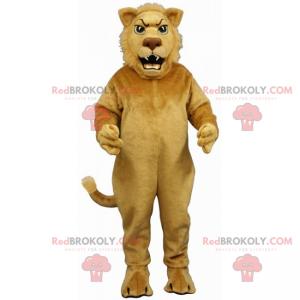Liten beige løve maskot - Redbrokoly.com