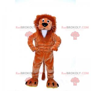 Mascot small brown and white lion - Redbrokoly.com