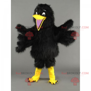 Maskotka mały ptaszek z miękkim czarnym upierzeniem -
