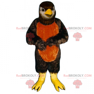 Mascot little bird with a two-tone belly - Redbrokoly.com