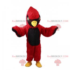 Maskot červený a černý pták - Redbrokoly.com