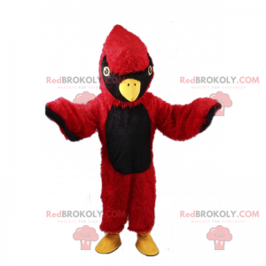 Maskottchen kleiner roter und schwarzer Vogel - Redbrokoly.com
