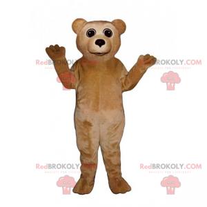 Lille beige bamse maskot - Redbrokoly.com