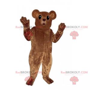 Maskot malý medvěd hnědý s kulatými ušima - Redbrokoly.com