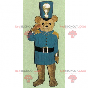 Malý maskot medvídka oblečený jako Louskáček - Redbrokoly.com