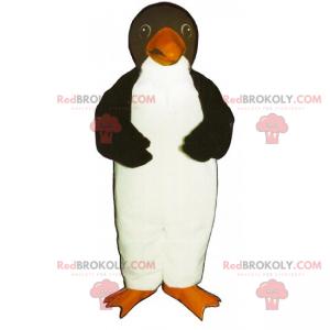 Kleines Pinguin-Maskottchen mit orangefarbenem Schnabel -