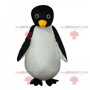 Liten pingvin maskot med runde øyne - Redbrokoly.com