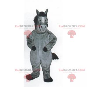 Malý šedý poník maskot - Redbrokoly.com