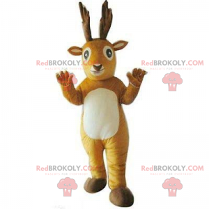 Little reindeer mascot with white belly - Redbrokoly.com