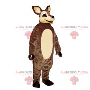Maskot malý hnědý sob a béžové břicho - Redbrokoly.com
