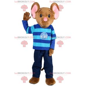 Lille musemaskot klædt ud som barn - Redbrokoly.com