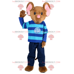 Malý myší maskot oblečený jako dítě - Redbrokoly.com