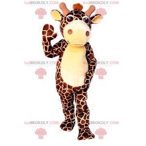 Kleine giraffe mascotte met bruine vlekken - Redbrokoly.com