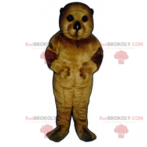Mascotte della piccola lontra - Redbrokoly.com