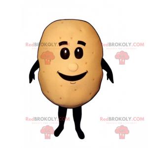 Kleines Kartoffelmaskottchen mit Gesicht - Redbrokoly.com