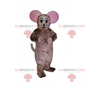 Mała myszka maskotka z dużymi uszami - Redbrokoly.com