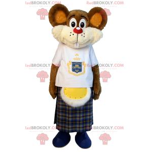 Kleines Mausmaskottchen in einem Kilt - Redbrokoly.com