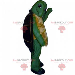 Kleines lächelndes Schildkrötenmaskottchen - Redbrokoly.com
