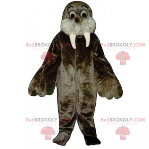 Hvalross maskot med store øjne - Redbrokoly.com