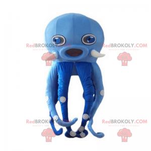 Modrá chobotnice maskot - Redbrokoly.com