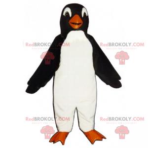 Tučňák maskot s kulatou hlavou - Redbrokoly.com