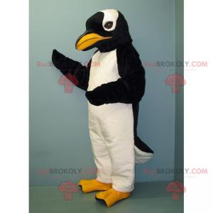 Pingvin maskot med gult nebb - Redbrokoly.com