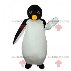 Tučňák maskot s kulatýma očima - Redbrokoly.com