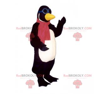 Pingwin maskotka z szalikiem i okularami - Redbrokoly.com